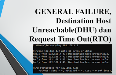 GENERAL FAILURE, Destination Host Unreachable dan Request Time Out Berikut Artinya: