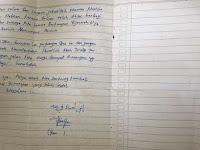 Beredar Surat Wasiat ' Pengantin' Bom yang Ditangkap Di Bekasi. Begini Isinya....!