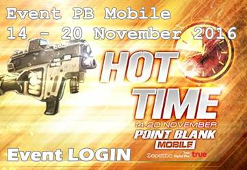 Event Login PB Mobile 14 November - 20 November 2016