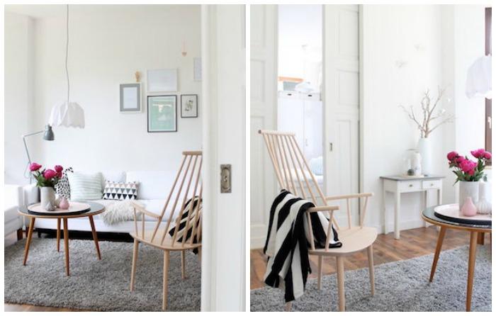 casa escandinava con muebles de diseño