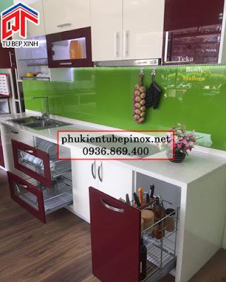www.123nhanh.com: KỆ GIA VỊ DỤNG CỤ - PHỤ KIỆN INOX CHO TỦ BẾP DƯỚI