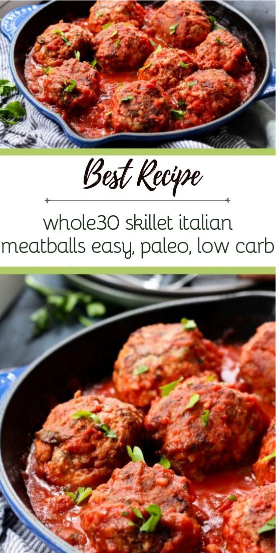 whole30 skillet italian meatballs: easy, paleo, low carb #healthyfood #dietketo