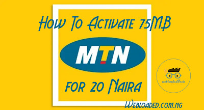 BOOM !!! How to activate 75MB for 20 Naira and 1.5GB for 400 Naira on MTN