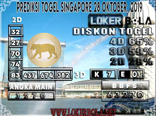 PREDIKSI TOGEL SINGAPORE LOKERBOLA  28 OKTOBER 2019