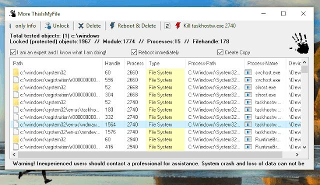 برنامج ThisIsMyFile لحذف الملفات المقفلة في الويندوز والتي لا تدعك قوم بحذفها