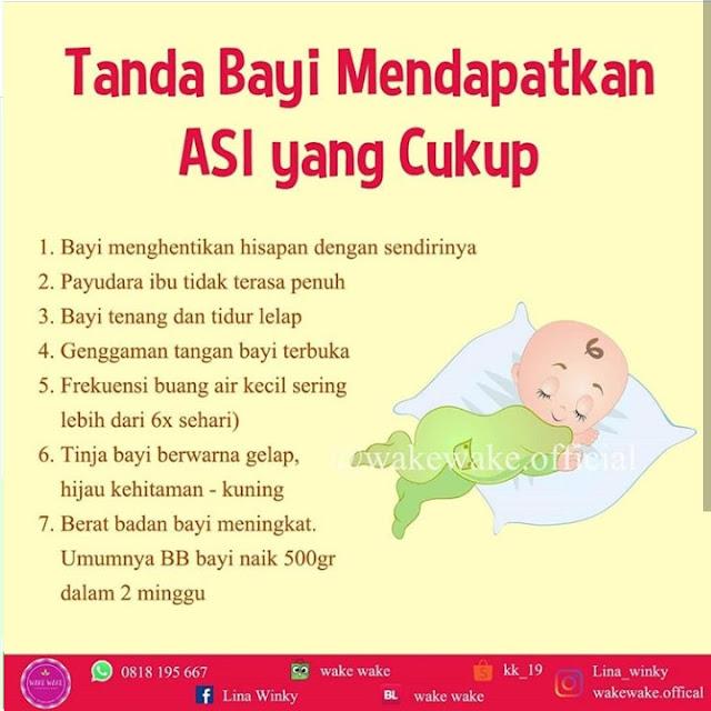Tanda Bayi Mendapatkan ASI yang Cukup