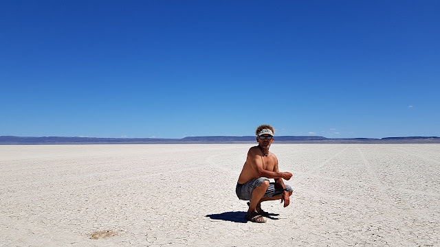Skies of bluest blue over the Alvord Desert...