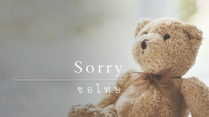 คำขอโทษภาษาอังกฤษ