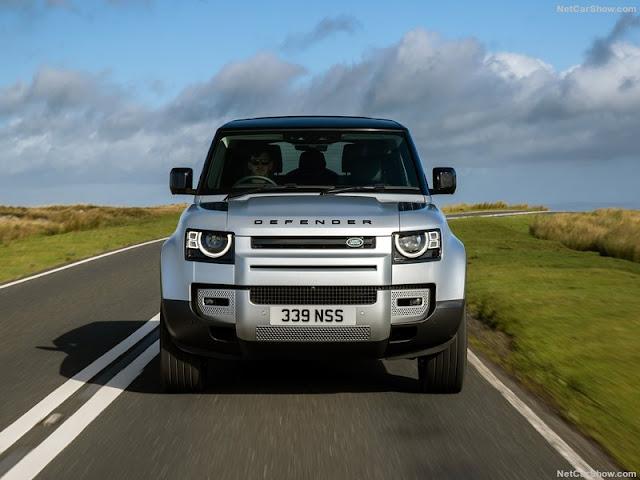 Land Rover Defender 2020 đầu xe được thiết kế mềm mại hơn