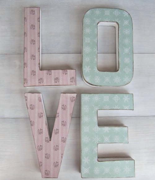 Letras Kraft decoradas