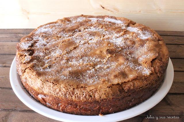 Bizcocho de manzana y cacao. Julia y sus recetas