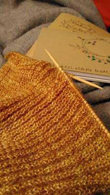 Knitting and blankets, cosy craft time