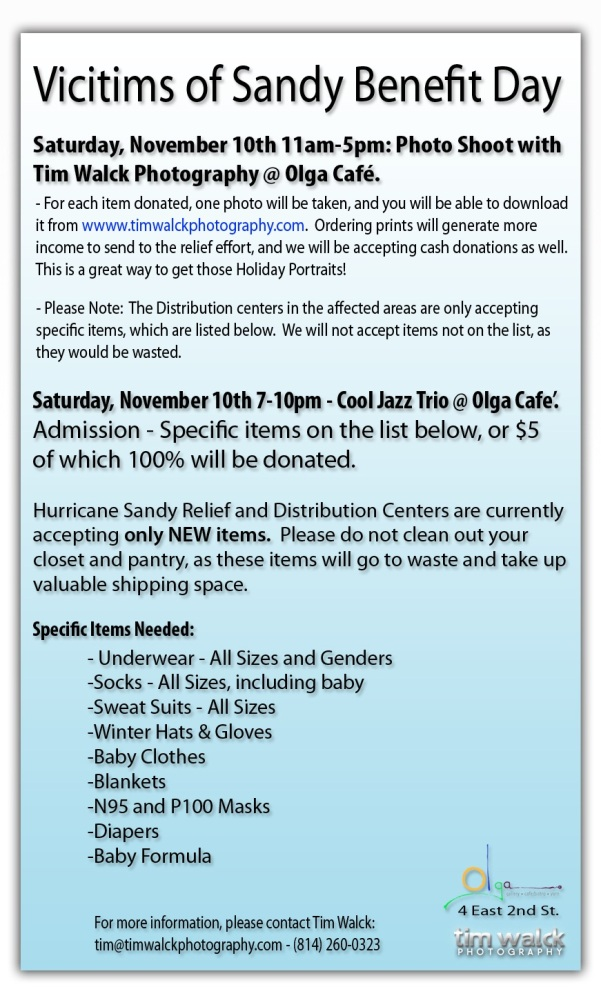 Tim Walck Photography   Olga s Have Teamed Up To Hold Benefit For Victims  Of Hurricane Sandy f4d393686e85