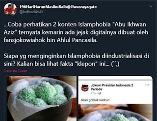 Terungkap! Jejak Digital Klepon Tidak Islami Dibuat Lebih Dulu Oleh Pendukung Jokowi