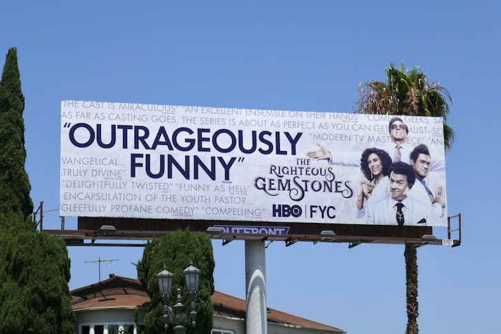 Righteous Gemstones 2020 Emmy FYC billboard