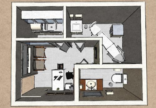 Projeto comercial – Clinica de Podologia 12 m²