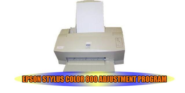 Epson Stylus Color 800 Printer Adjustment Program