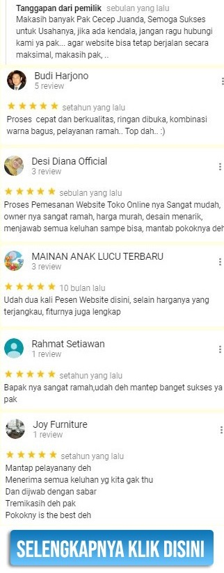 Jasa Pembuatan Toko Online Testimoni 3
