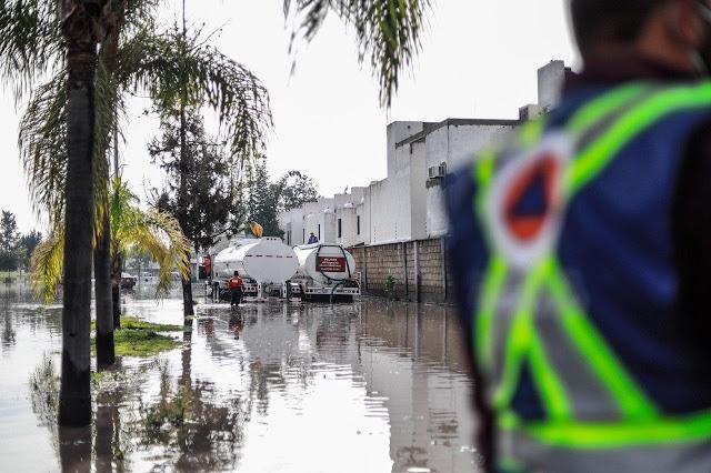 El Municipio de Querétaro atiende las afectaciones por la lluvia