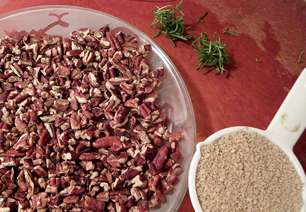 Toasted pecans, breadcrumbs, rosemary