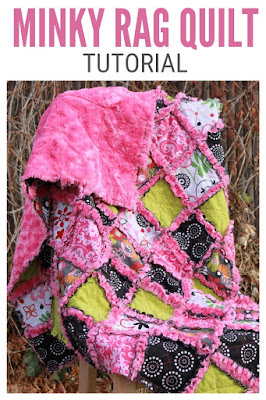 homemade minky rag quilt