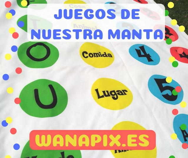 Juegos de nuestra manta personalizada wanapix