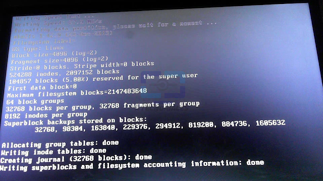 Primer boot de Remix OS 3 preparando el sistemal.