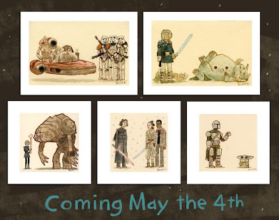 Star Wars Day The Great Showdowns Timed Edition Prints by Scott C.
