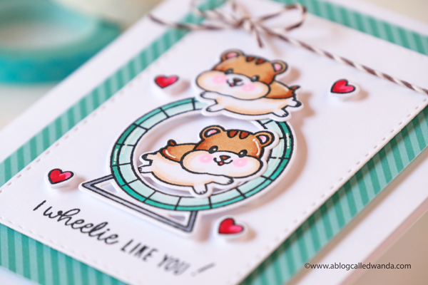Sunny Studio Stamps: Happy Hamsters Card by Wanda Guess