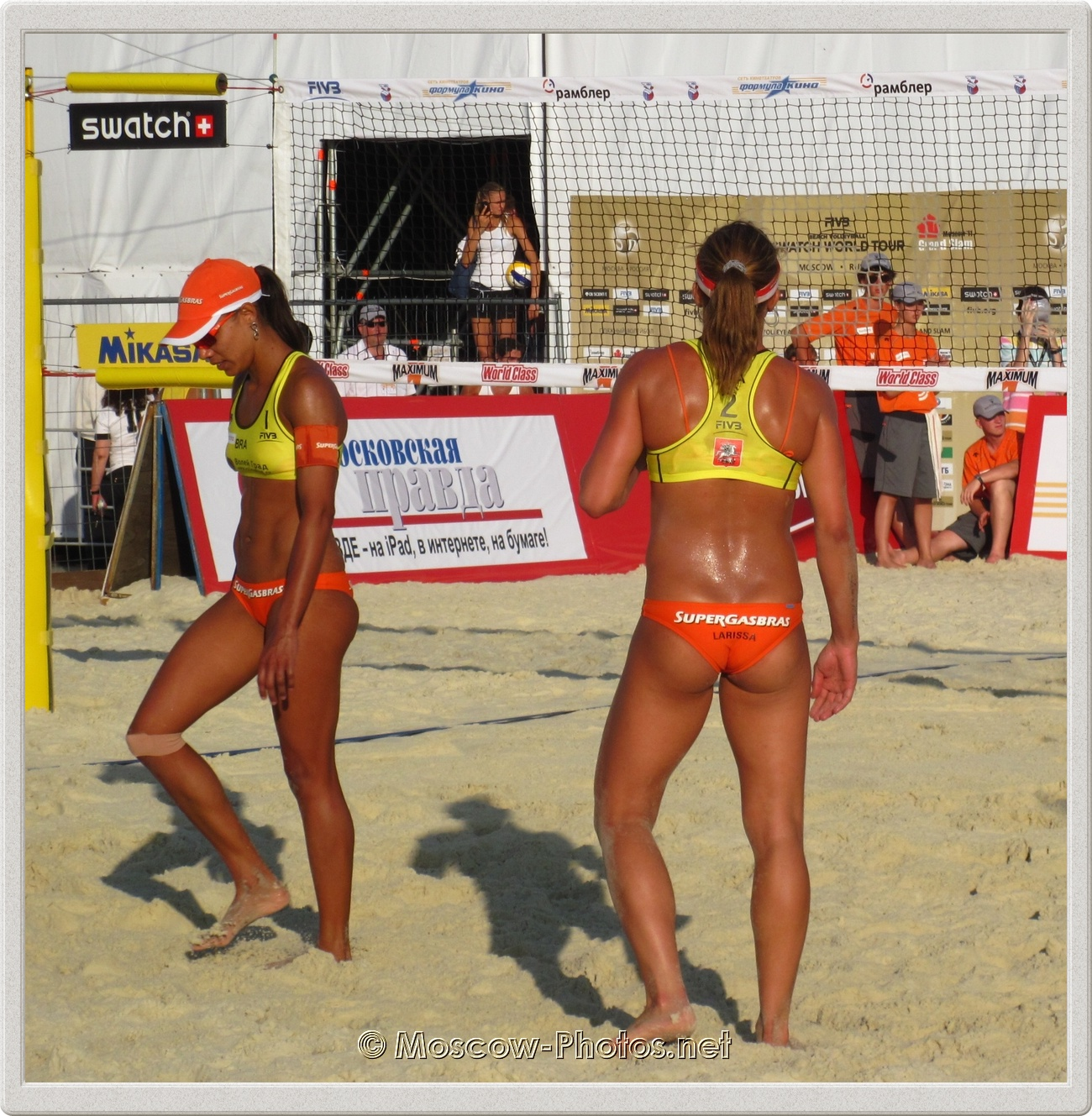 Beach Volleyball Players Juliana Felisberta Da Silva & Larissa Franca