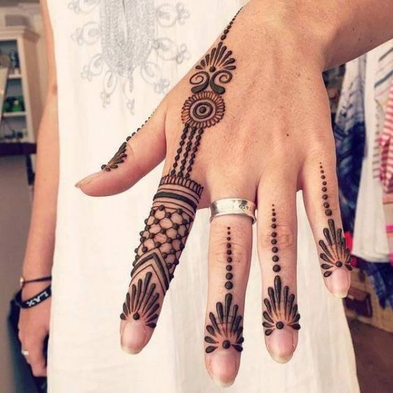 Beauteous Back Hand Mehndi Designs