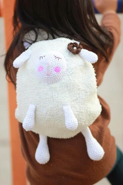 Bolso Oveja de Tricot-Crochet Patron