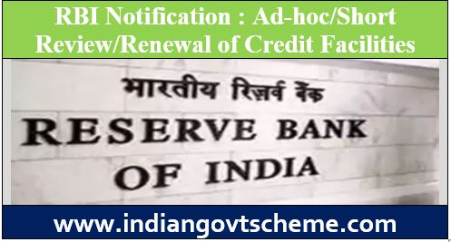 Ad-hoc/Short Review/Renewal of Credit Facilities
