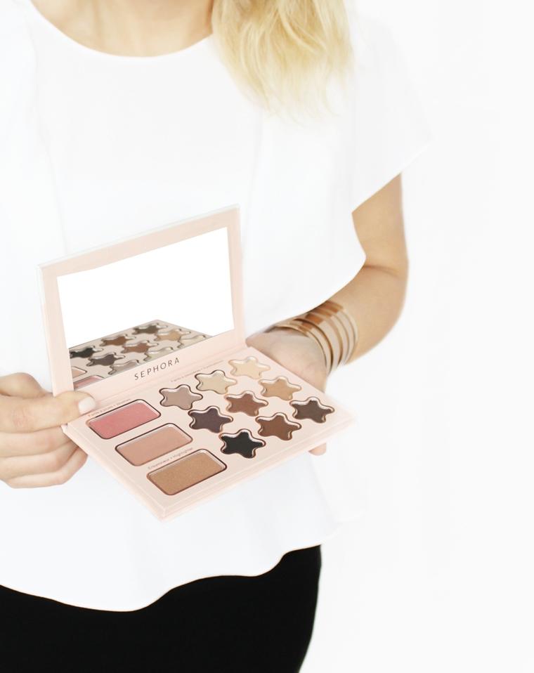 Sephora Wonderful Stars Paleta do makijażu twarzy - róż + rozświetlacz + cienie do powiek