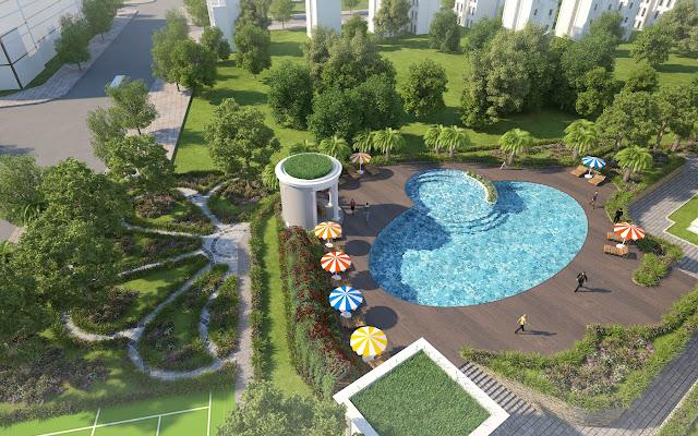 Cảnh quan bể bơi dự án Iris Garden
