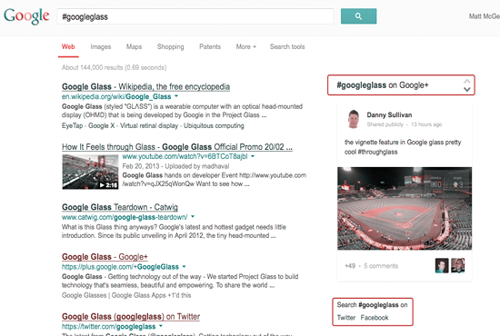New Search Engines for Apps and Hashtags