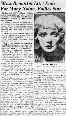 Mary Nolan Suicide