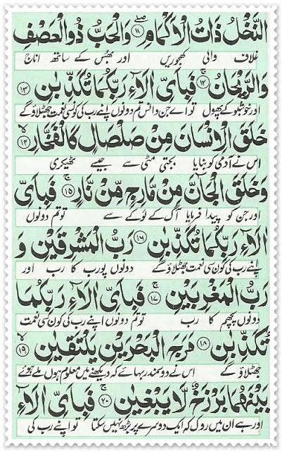 Surah Rahman with translation and transliteration
