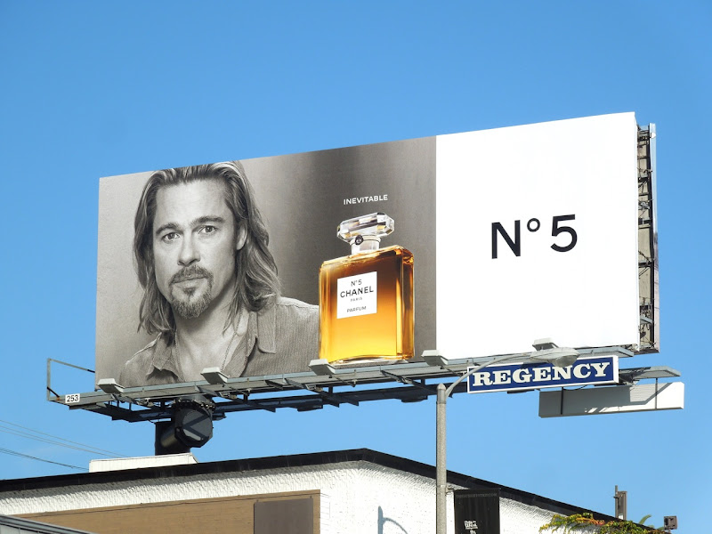 Brad Pitt Inevitable Chanel No5 fragrance billboard