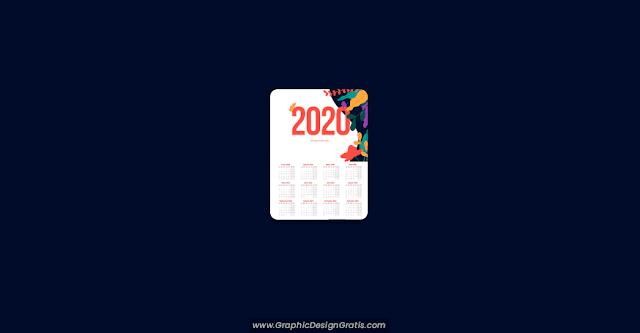 Calendario 2020 editable gratis