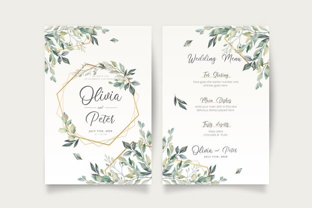 desain undangan pernikahan vintage keren