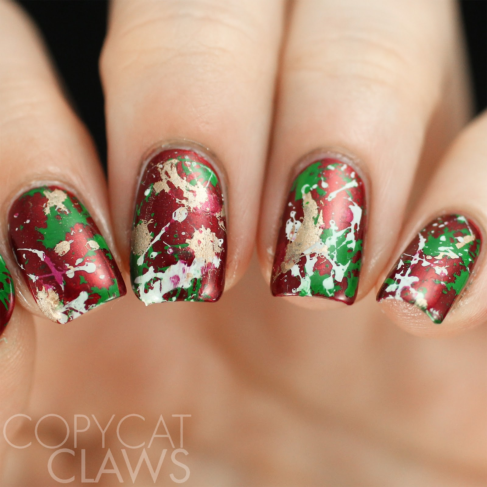 Copycat Claws: The Digit-al Dozen does December: Christmas Splatter