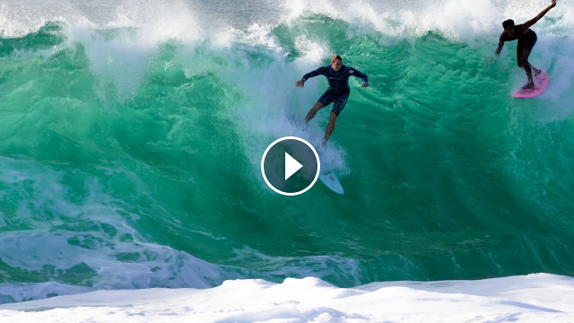 BIGGEST SWELL OF THE SUMMER AT KEIKI SHORE BREAK