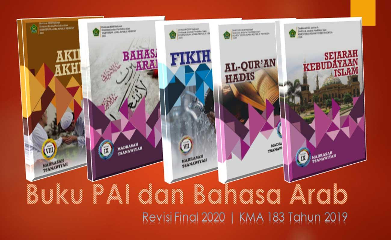 Buku PAI dan Bahasa Arab KMA 183 MTs Kelas 7 8 9 Revisi Final 2020