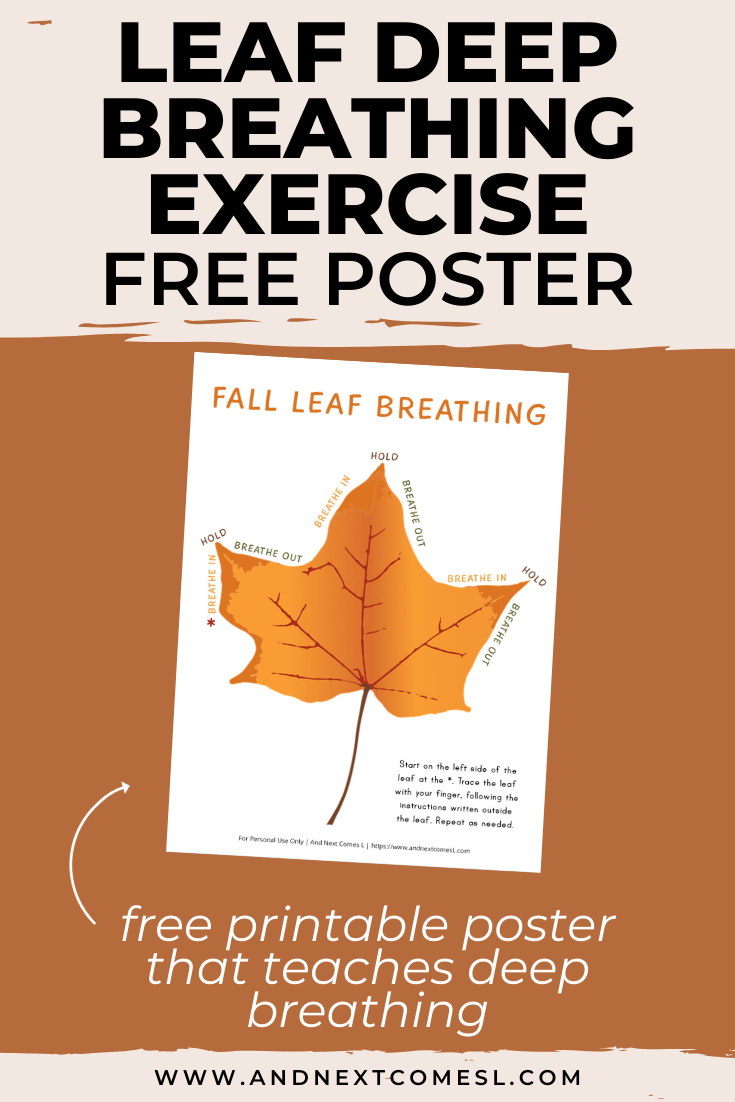Free printable poster for a fall deep breathing technique