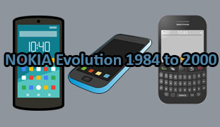 Evolution of NOKIA Mobile Phones from 1984 to 2000 1