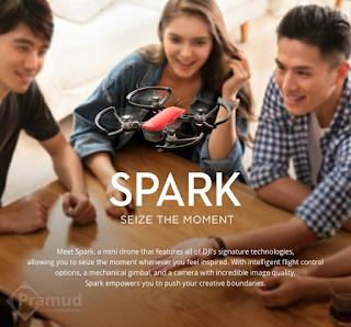 fitur canggih dan spesifikasi drone dji spark indonesia - pramud blog