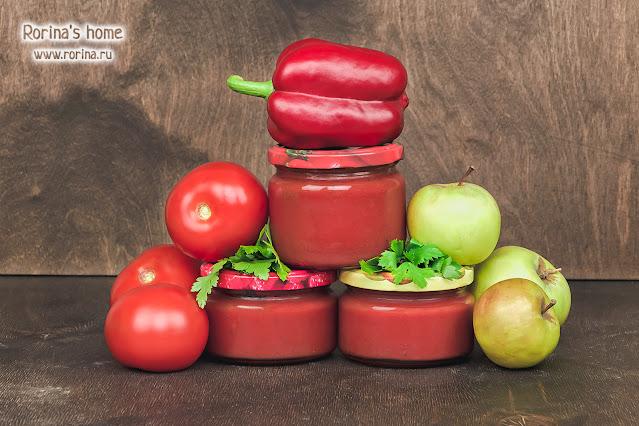 Домашний кетчуп на зиму: закатка в банки. Фото