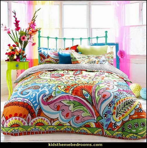 fun and funky - cute and colorful  - chic and trendy decorating ideas - unique decor - girls bedroom decor - colorful decor - colorful bedrooms - decorating with color
