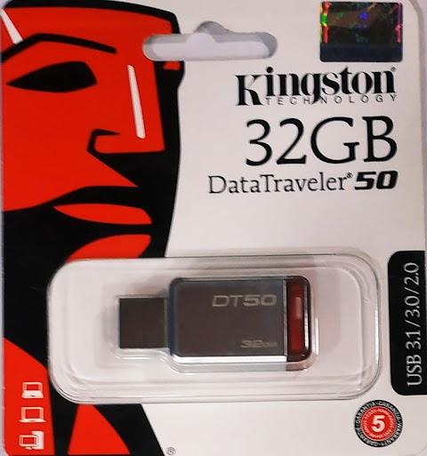 فلاشة كينجستون سعة 32 جيجا usb3 فقط 80 جنية